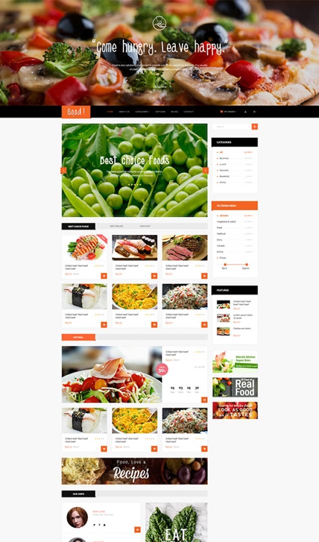 Dizainas sveiką maistą ir kt. produktus parduodančiai el. parduotuvei