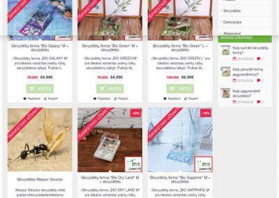 www.skruzdeliuferma.lt - el parduotuvės kūrimas skruzdėliu fermų pardavimui